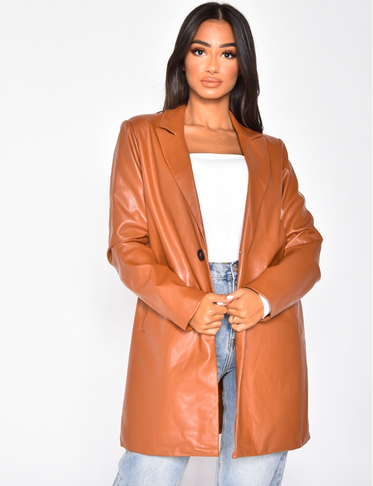 Manteau en simili