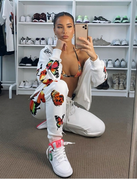 Jogging Bottoms with Butterfly Pattern