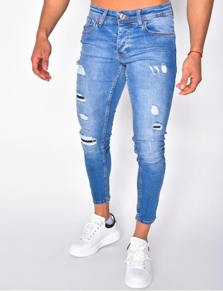 Jeans Skinny Fit in Destroyed-Optik