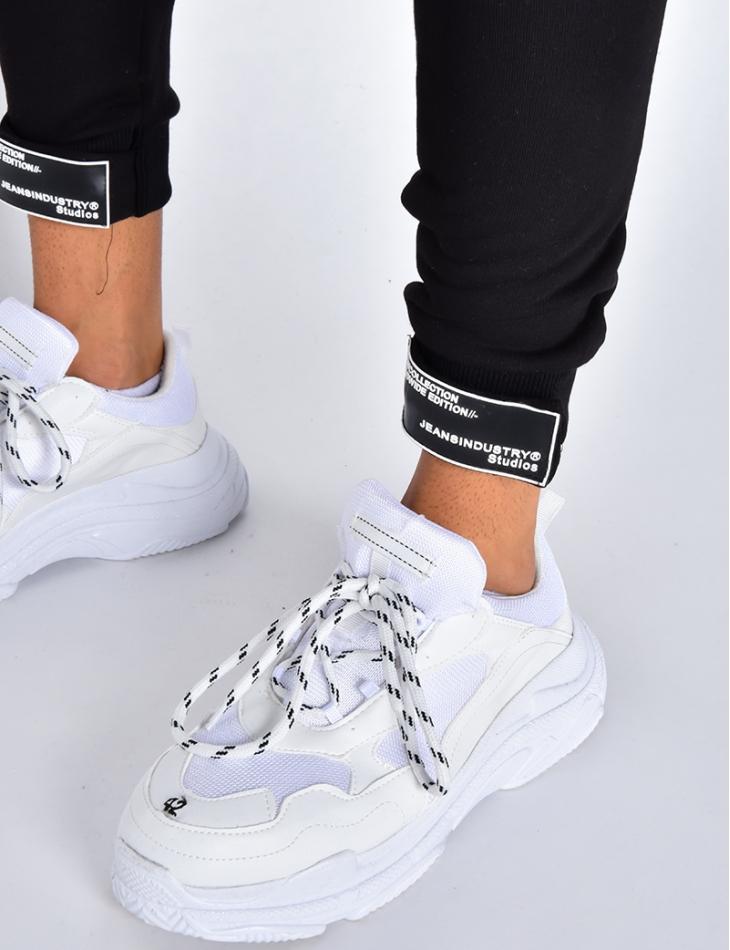 Pantalon de jogging avec scratch aux chevilles
