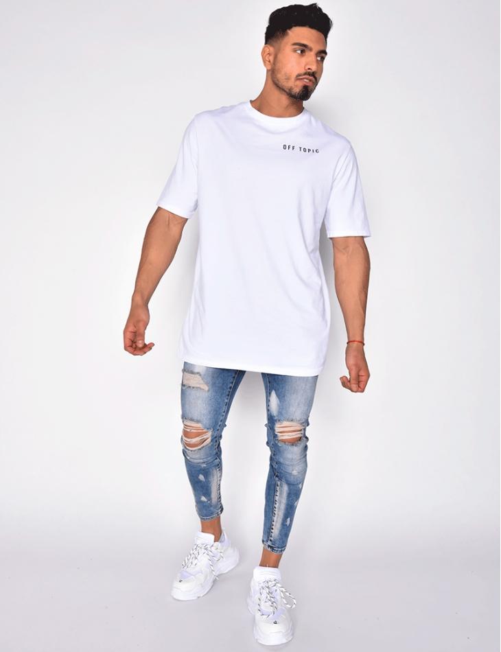 Jeans délavé destroy