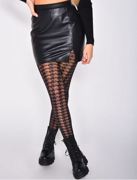 Collants pied de poule