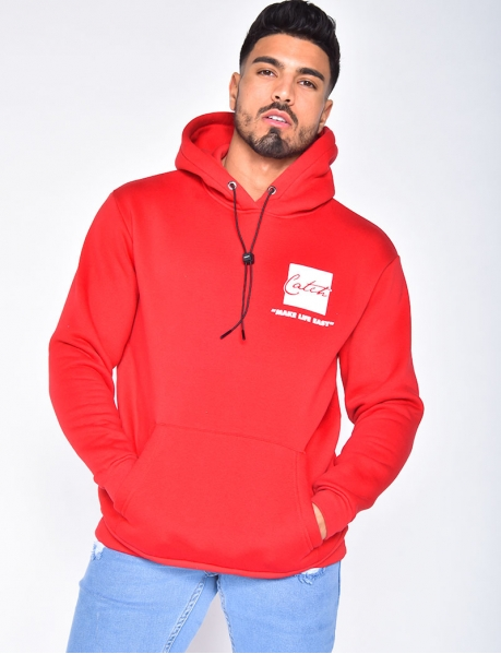 """Make Life Easy"" Sweatshirt with Hood"