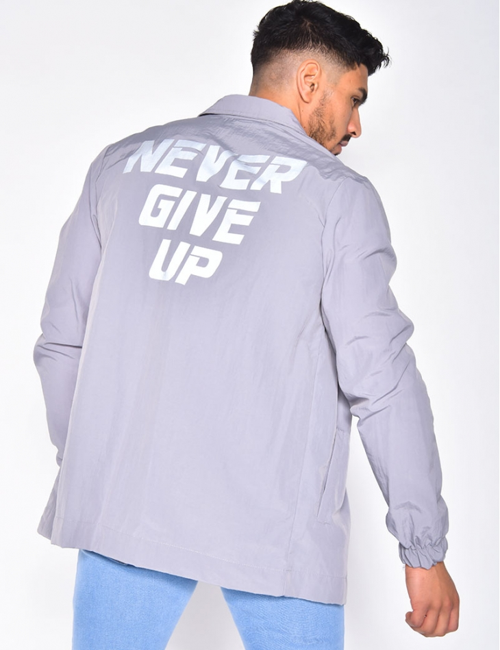 """Chemise """"Never Give Up"""""""