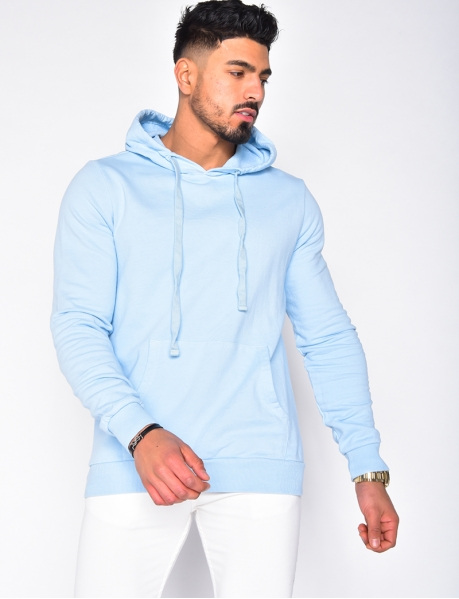 Sweatshirt with Hood and Pocket