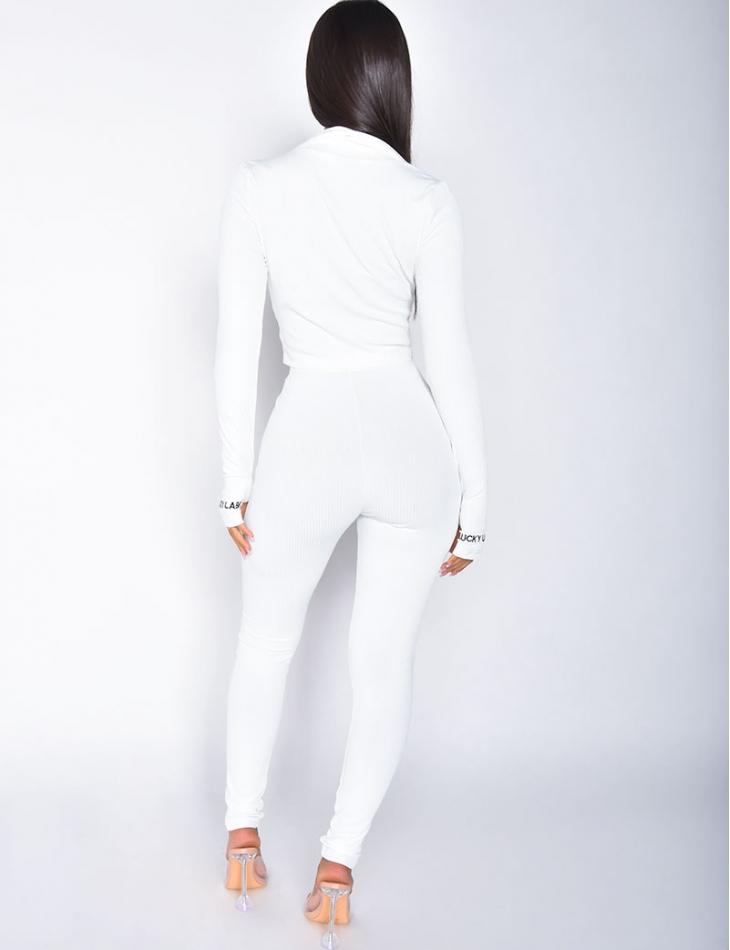 """Ensemble veste et pantalon côtelé """"Lucky Label"""""""