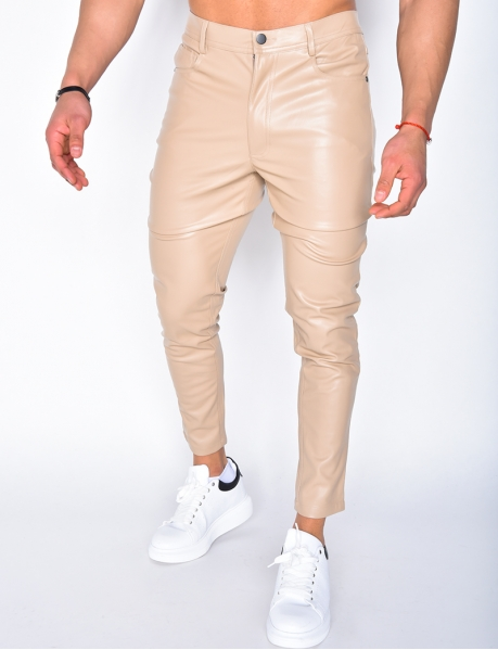 Pantalon en simili