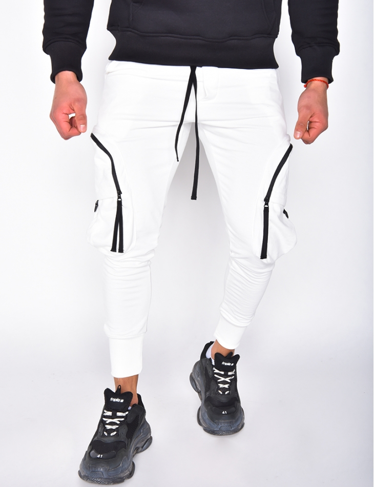 Pantalon à poches et zips