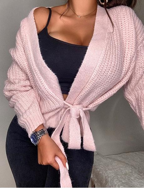 Wool Wrapover Cardigan