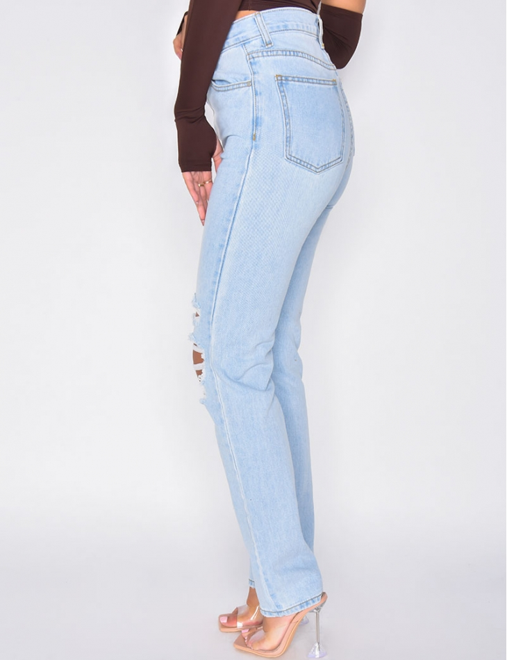 Jeans straight destroy