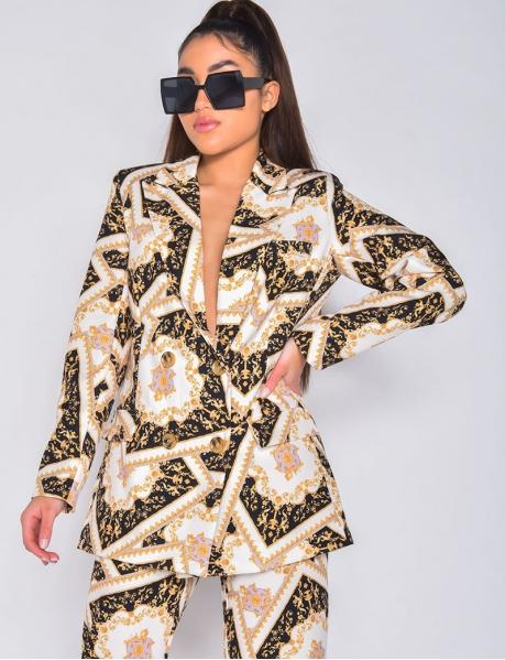 Veste blazer à motifs baroque