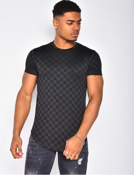 Tee-shirt à motifs damier
