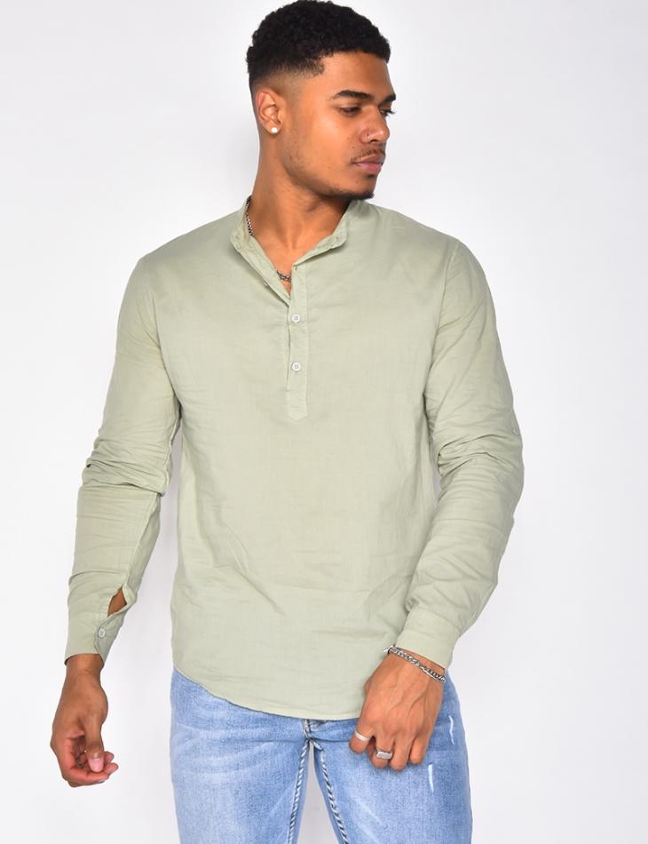 Chemise manches longues à col rond