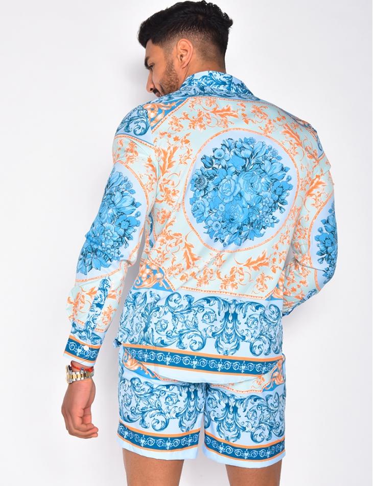 Chemise à motifs baroque