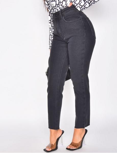 Basic high-waisted jeans