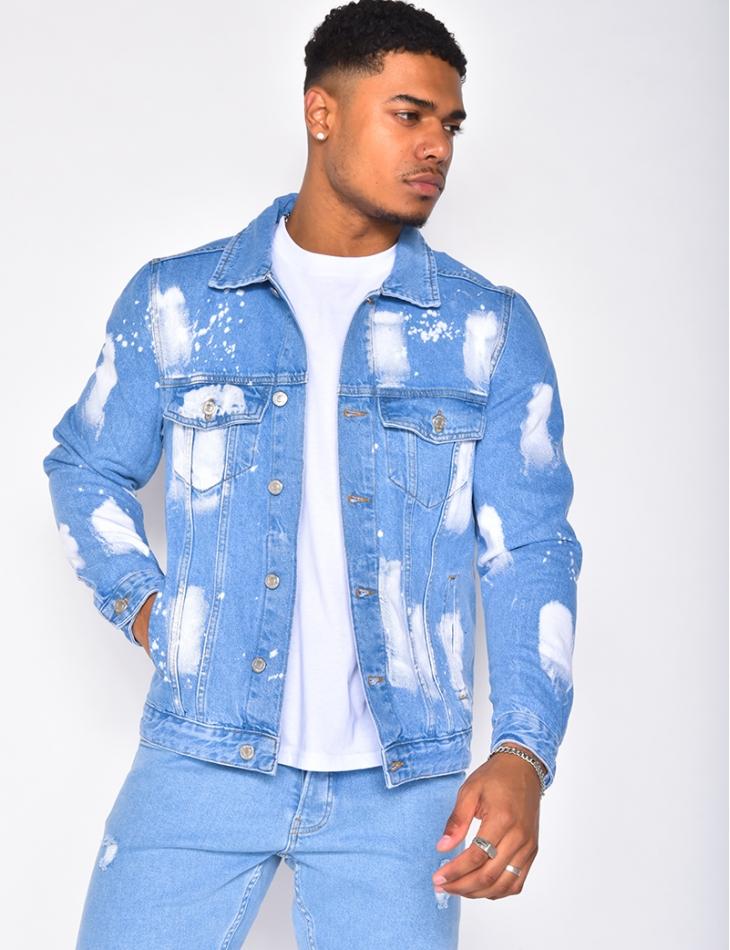Vetse en jeans à tâches