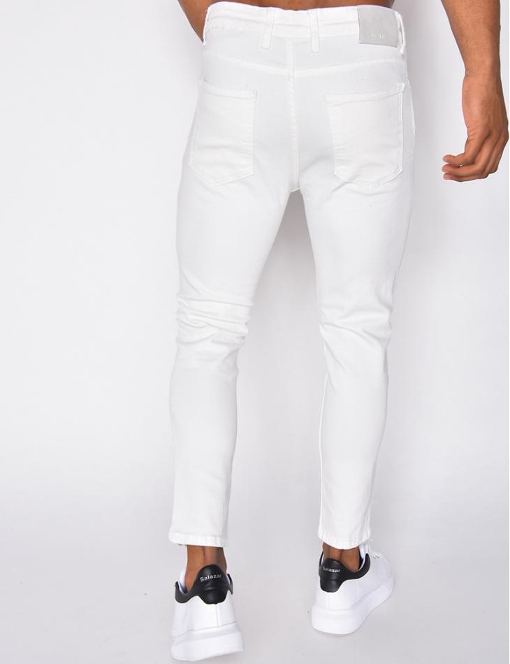 Jeans blanc basic