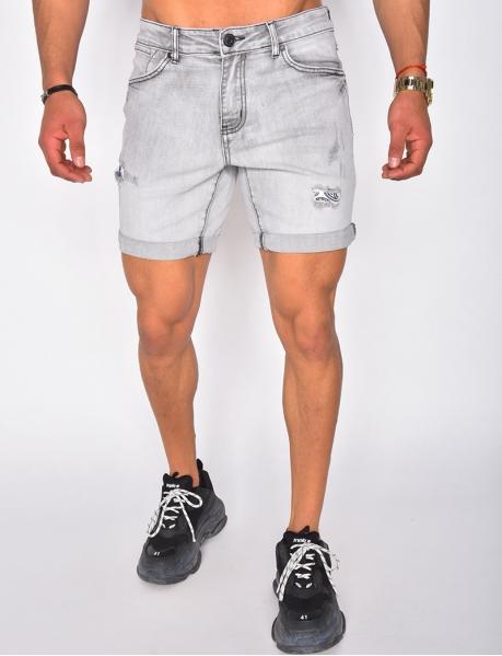 Destroy Shorts mit Bandana-Aufnähern