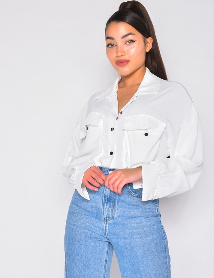 Chemise oversize à poches