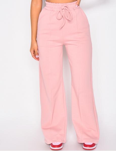Pantalon large patte d'eph couture apparente