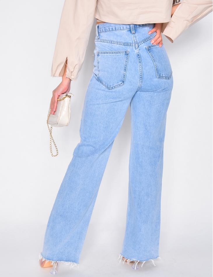 Jeans taille haute pattes d'eph