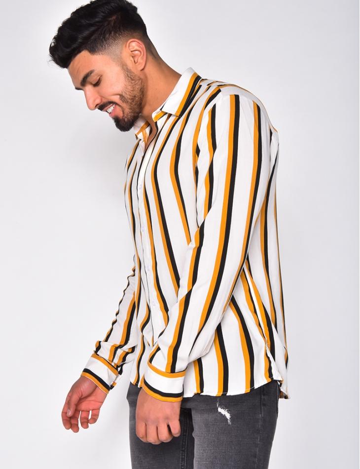 Chemise manche longues à rayures