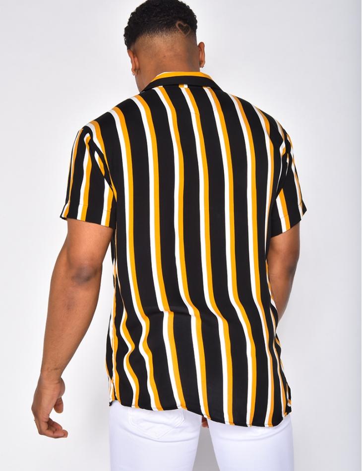 Chemise manche courte à rayures