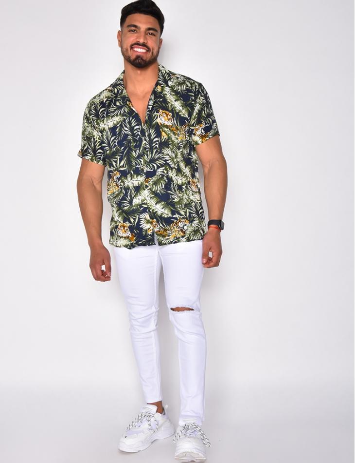 Chemise manche courtes avec tigre