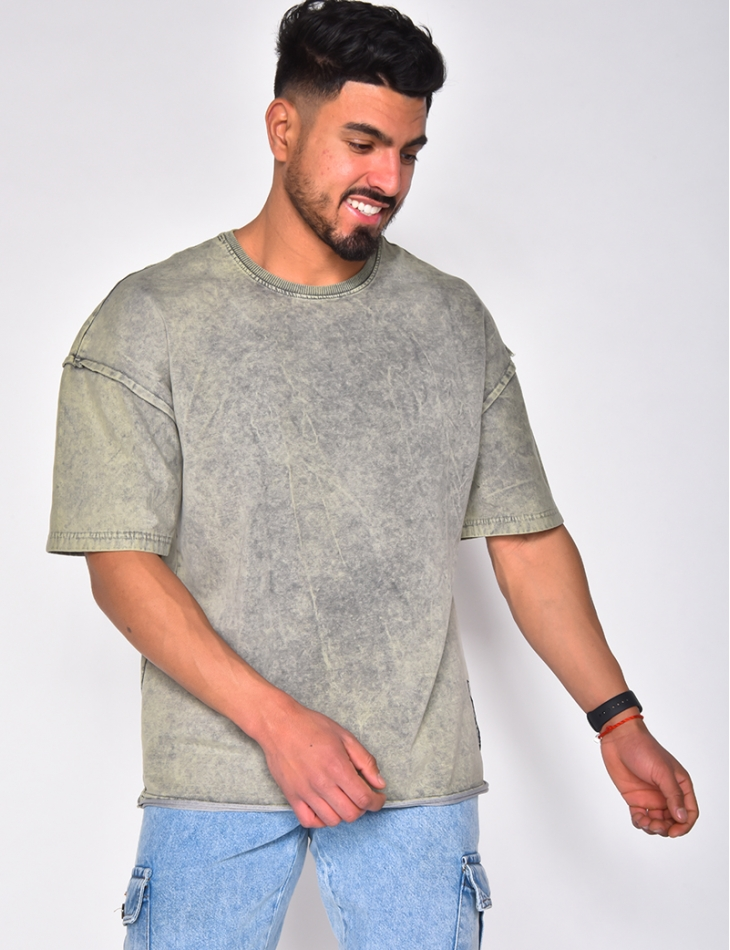 T-shirt homme couture apparente