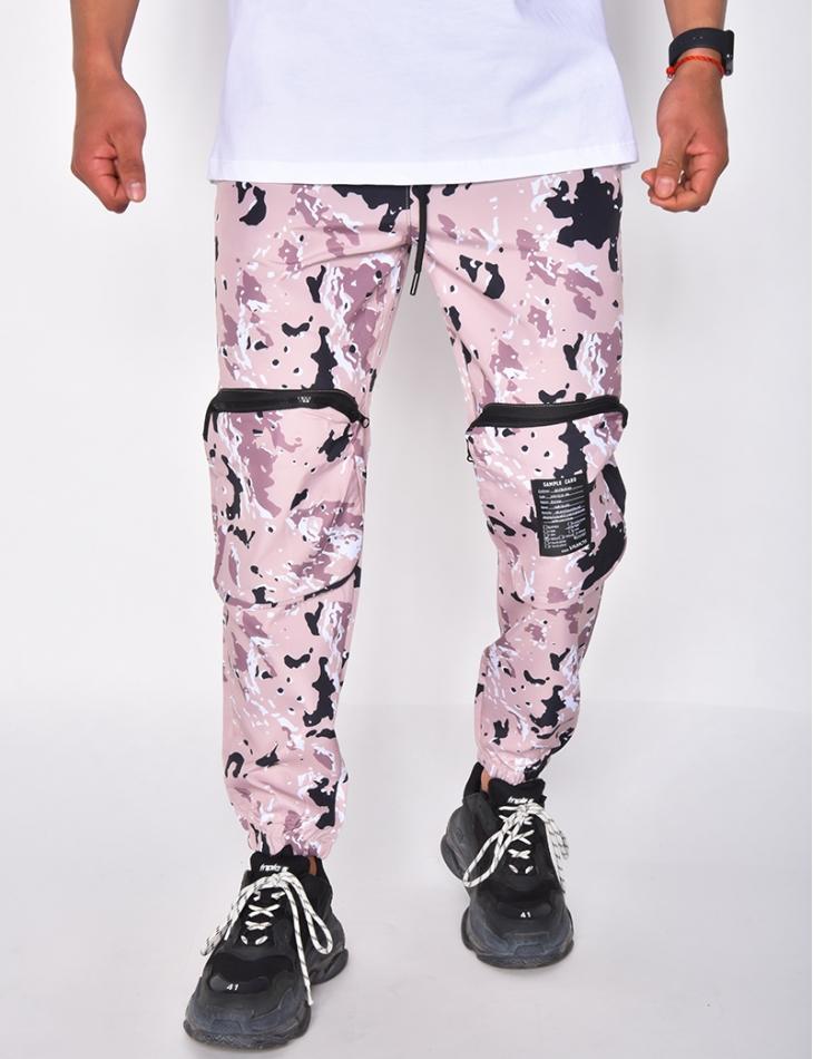 Pantalon cargo à motifs camouflage