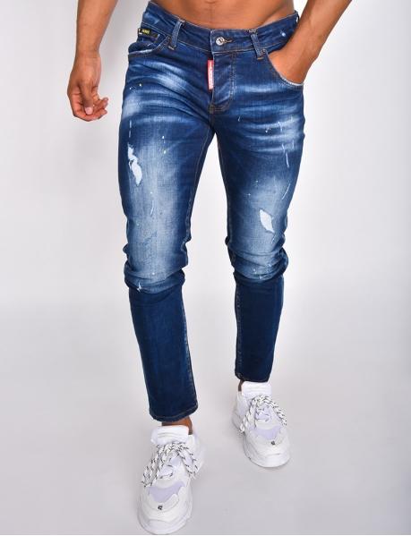 """Jeans """"ICON"""" à tâches de peinture destroy"""