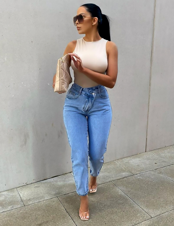 Jeans basic coupe droite