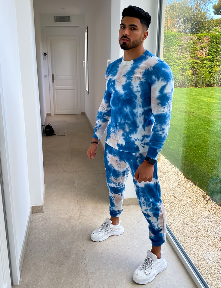 Ensemble sweat et jogging tie and dye