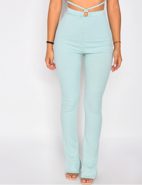Ribbed Tie Trousers