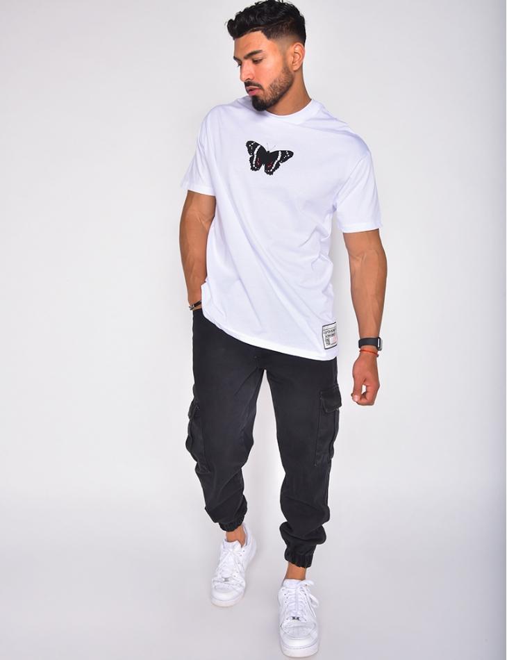 T-shirt homme avec papillon
