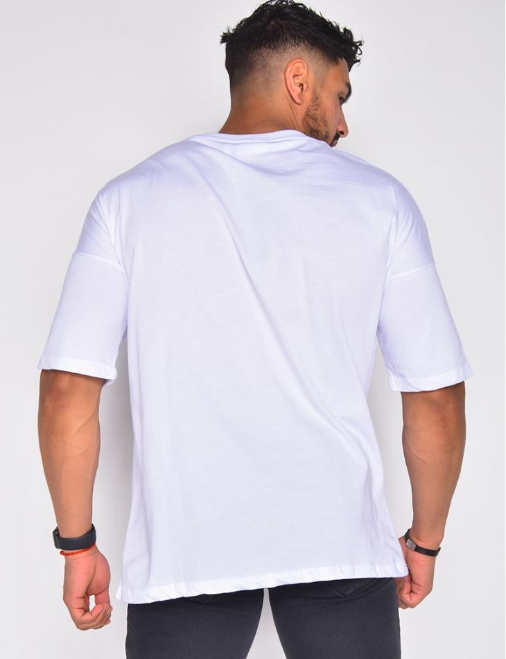 T-shirt avec couronne brodé