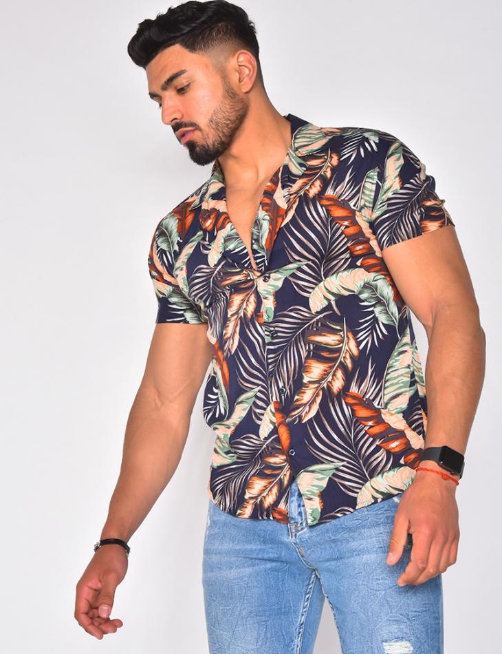 Chemise à motifs Tropicales