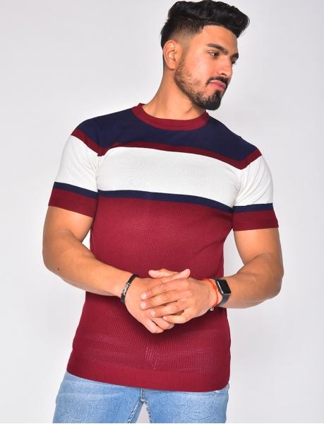 T-shirt col rond à bandes