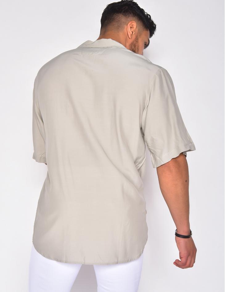 Chemise à rayures en reliefs