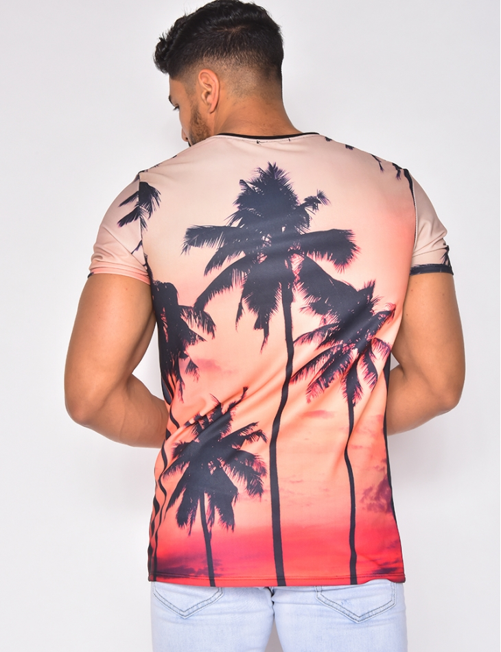 T-shirt motifs palmiers