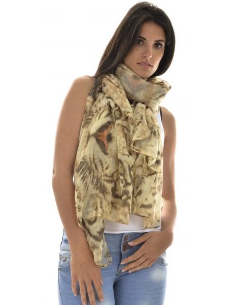 Foulards à motifs léopards