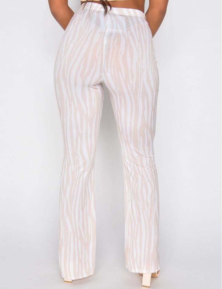 Pantalon fluide à motif