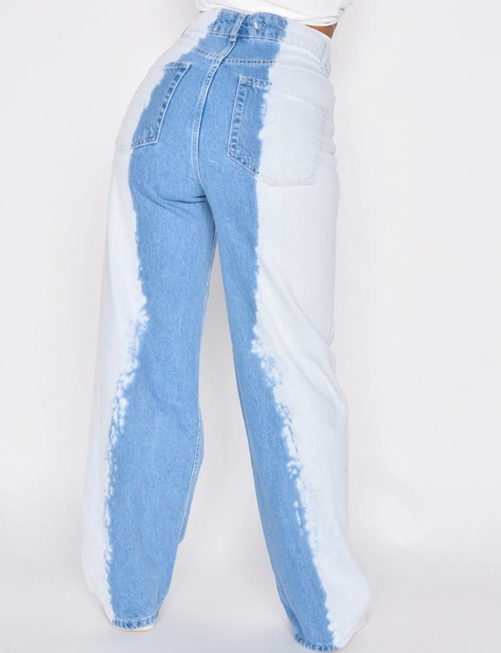 Jeans large bi-color