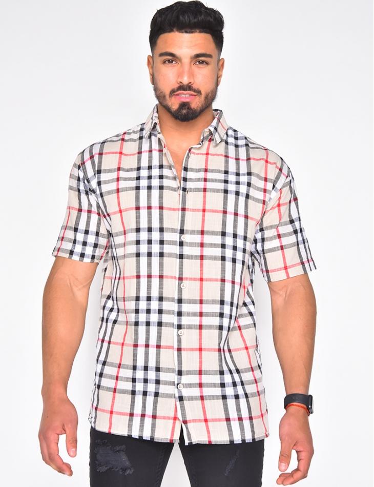Chemise homme à carreaux