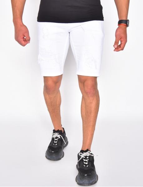 Jeans-Shorts in Destroyed-Optik