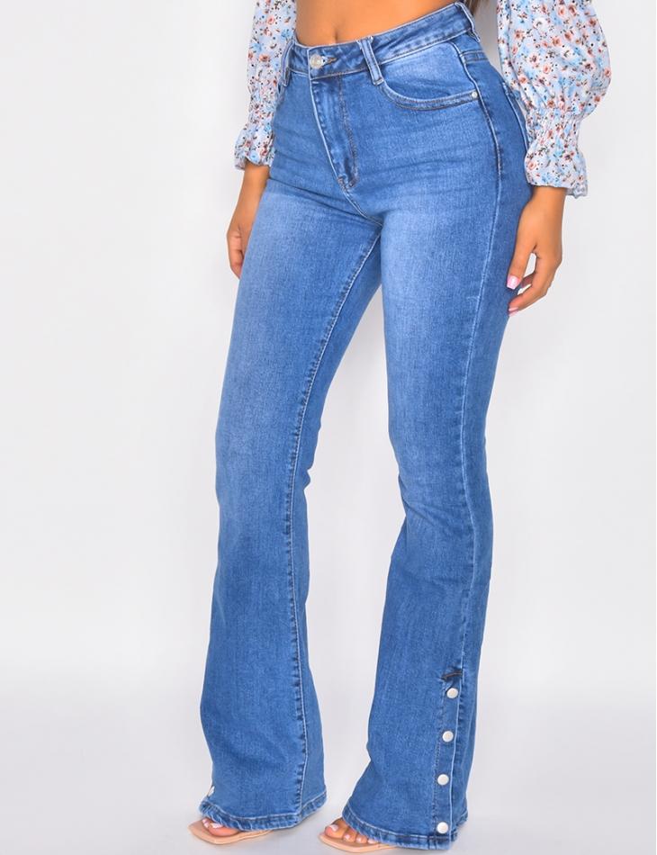 Jeans pates d'eph à pression