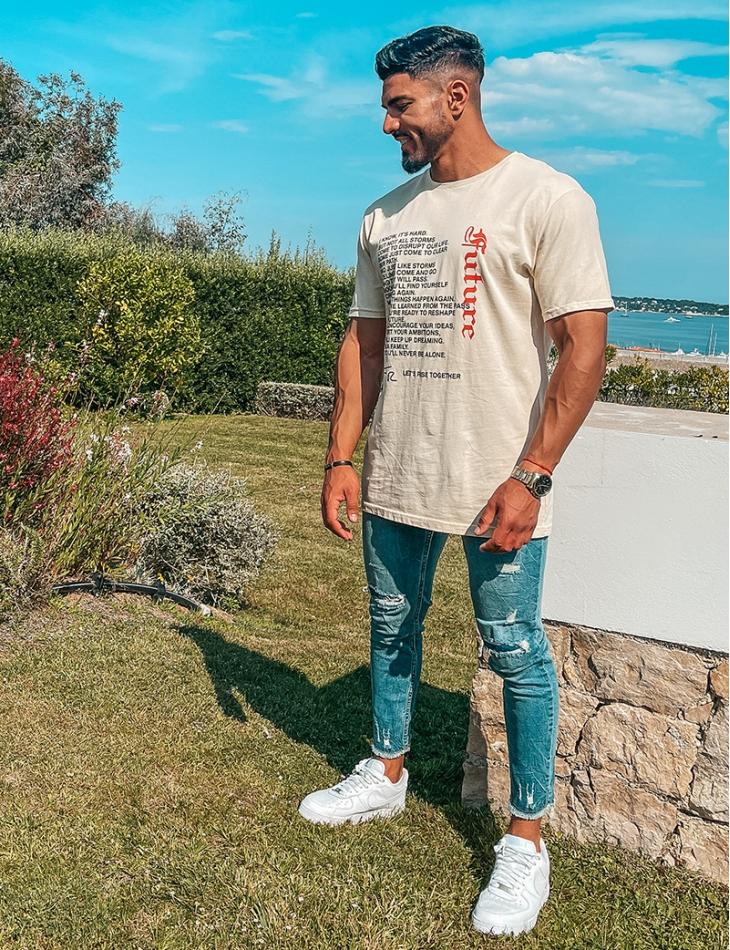 """T-shirt """"Future"""" à écritures"""