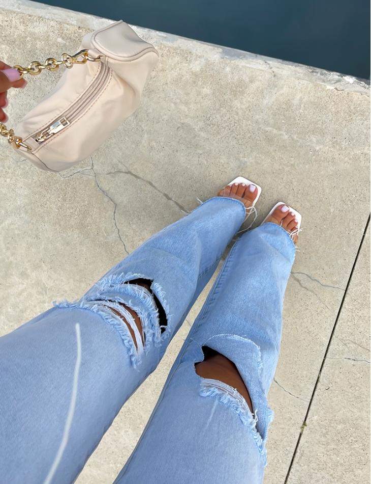 Jeans destroy dégradé