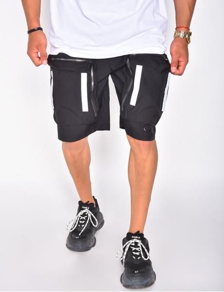 Shorts mit Taschen und reflektierendem Band