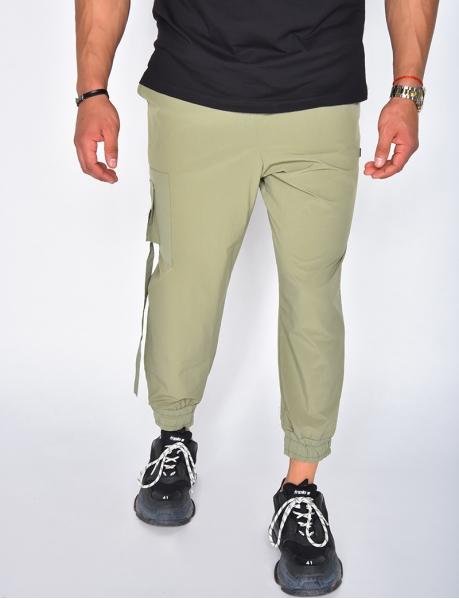 Pantalon cargo avec poche très fin